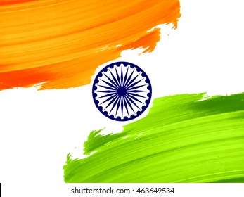 Indian flag theme vector background design