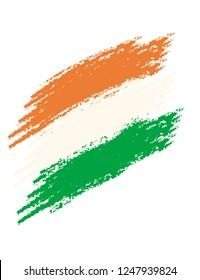 Indian flag vector illustration . Indian flag design.