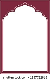 Indian frame on white background