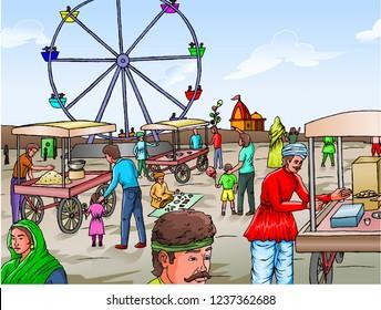 Ilustraciones Imagenes Y Vectores De Stock Sobre Village Fair