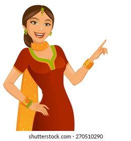 Indian Pretty Girl Stock Vectors Images Vector Art