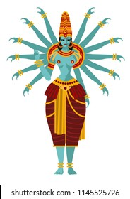 indian goddess with arms