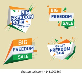 Indian Indepandance Day big freedom sale special offer discount vector