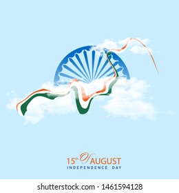 Indian Independence Day 15 august concept,banner and poster. vector