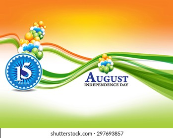 indian independence day background with wave