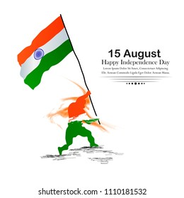 Indian Independence Day celebrations with stylish text 15 August