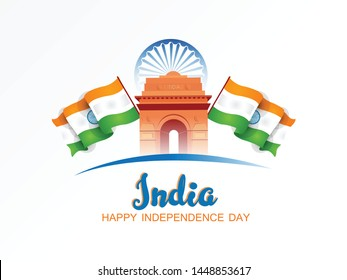 Indian Independence Day celebrations with stylish text 15 August text.