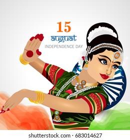 Indian Independence Day celebrations with stylish Kathak dancer .