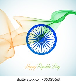 Indian Independence Day concept background with Ashoka wheel. Vector Illustration eps10.