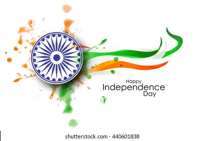 Indian Independence Day concept background, Vector Illustration