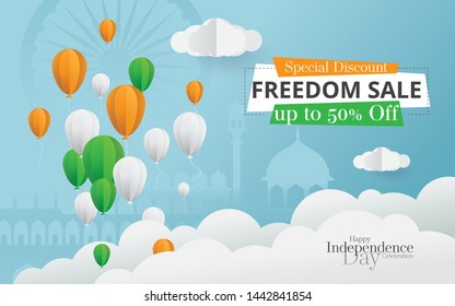 Indian Independence Day Sale, Offer Poster Design Background Template