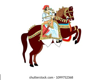 Indian King Riding Horse