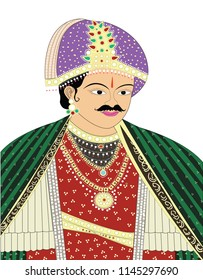 Indian king vector