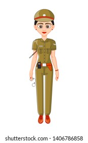 Indian Lady police officer in uniform