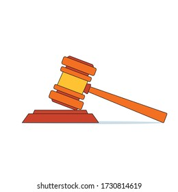 Indian Law Related cartoon (Gavel) Judge Hammer