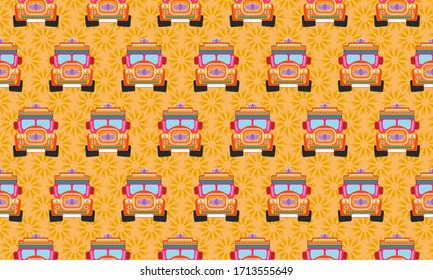 Indian lorry pattern, with bright and attractive color combination