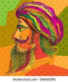 Indian man colour