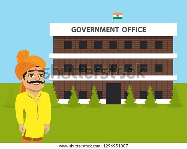 Indian Man State Maharashtra Maharashtrian Punjab Stock Vector