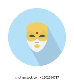 indian mask flat icon - From Movie and film icons set