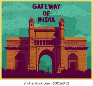 Indian monument gateway of india