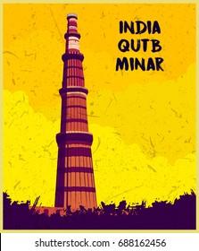Indian monument  Qutub Minar