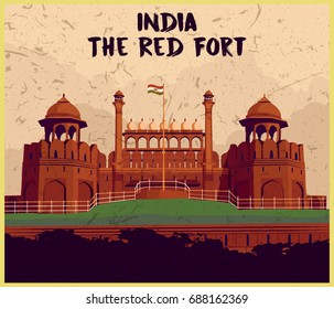 Indian monument the red fort