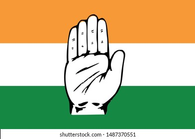 Indian National Congress party flag