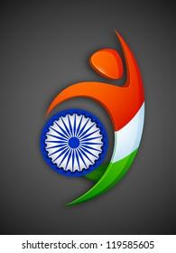 Indian National Flag color background. EPS 10.
