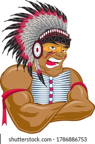 Indian Native American Strong Cheif Man