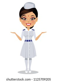 An Indian nurse in her uniform
