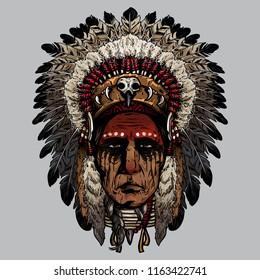 indian old man face