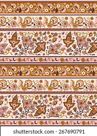 indian paisley textile print