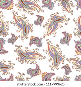 Indian Paisley traditional pattern