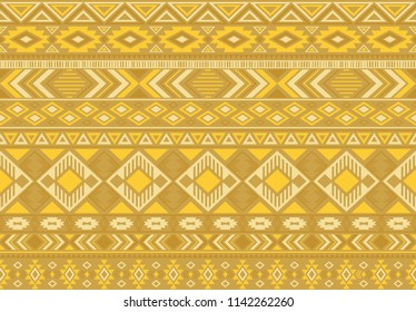 Indian pattern tribal ethnic motifs geometric seamless vector background. Graphic indonesian tribal motifs clothing fabric textile print traditional design with triangle and rhombus shapes.