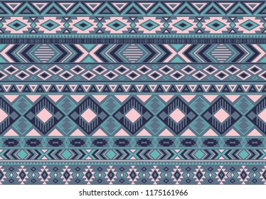 Indian pattern tribal ethnic motifs geometric seamless vector background. Graphic indian tribal motifs clothing fabric textile print traditional design with triangle and rhombus shapes.