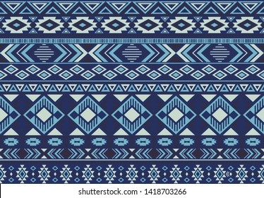 Indian pattern tribal ethnic motifs geometric seamless vector background. Modern boho tribal motifs clothing fabric textile print traditional design with triangle and rhombus shapes.