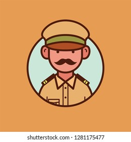 Indian policeman vector design in uniform.