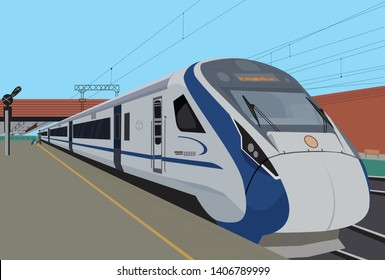 Indian Railway Bullet Train - Vector