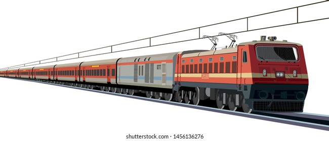 Indian Railway rajdhani express - Vector