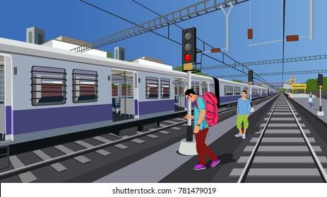 Indian railway trespassing