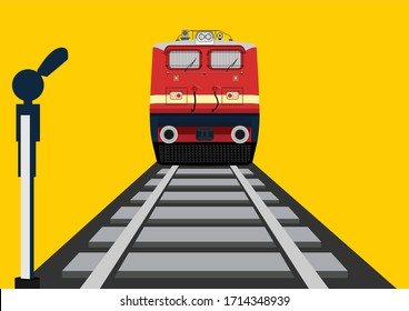 Indian Railways train vector illustration