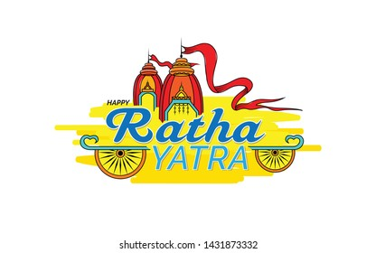 Indian Religious Festival Ratha Yatra Background Design Template