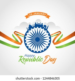 Indian Republic day 26 January. Vector illustration