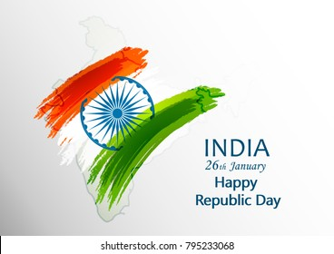 Indian Republic day concept 26 January.