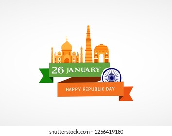 Indian Republic Day concept design, banner, poster and logo