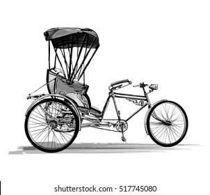 Indian rickshaw cycle - vector illustration