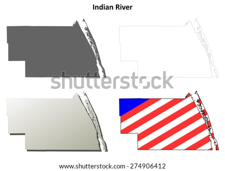 Indian River Florida Map.Indian River County Florida Outline Map Stock Vector Royalty Free