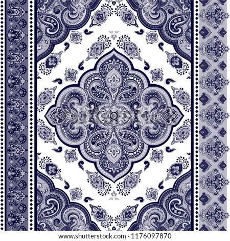 c746b3dd4646d Indian rug tribal ornament pattern. Aztec towel, yoga mat. Vector Henna  tattoo style. Can be used for textile, greeting business card background,  ...