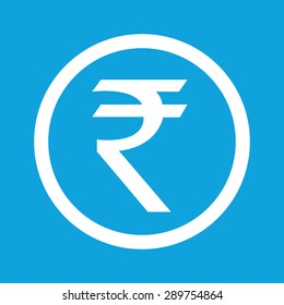 Indian rupee icon isolated. Illustration of rupee vector icon. Indian money. Financial currency blue symbol