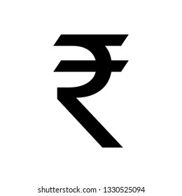 Indian Rupee icon. Indian Rupee sign. vector